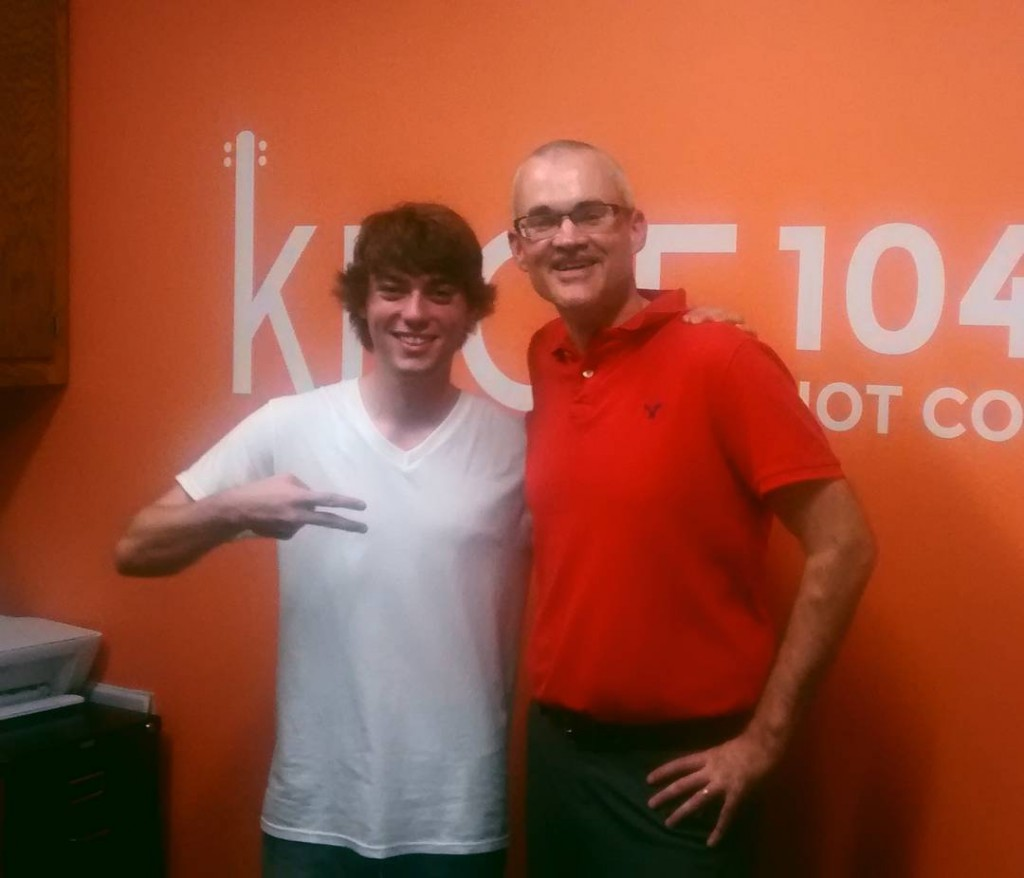 Thanks to dominicfrancesco for stopping by the KBOE Studios!