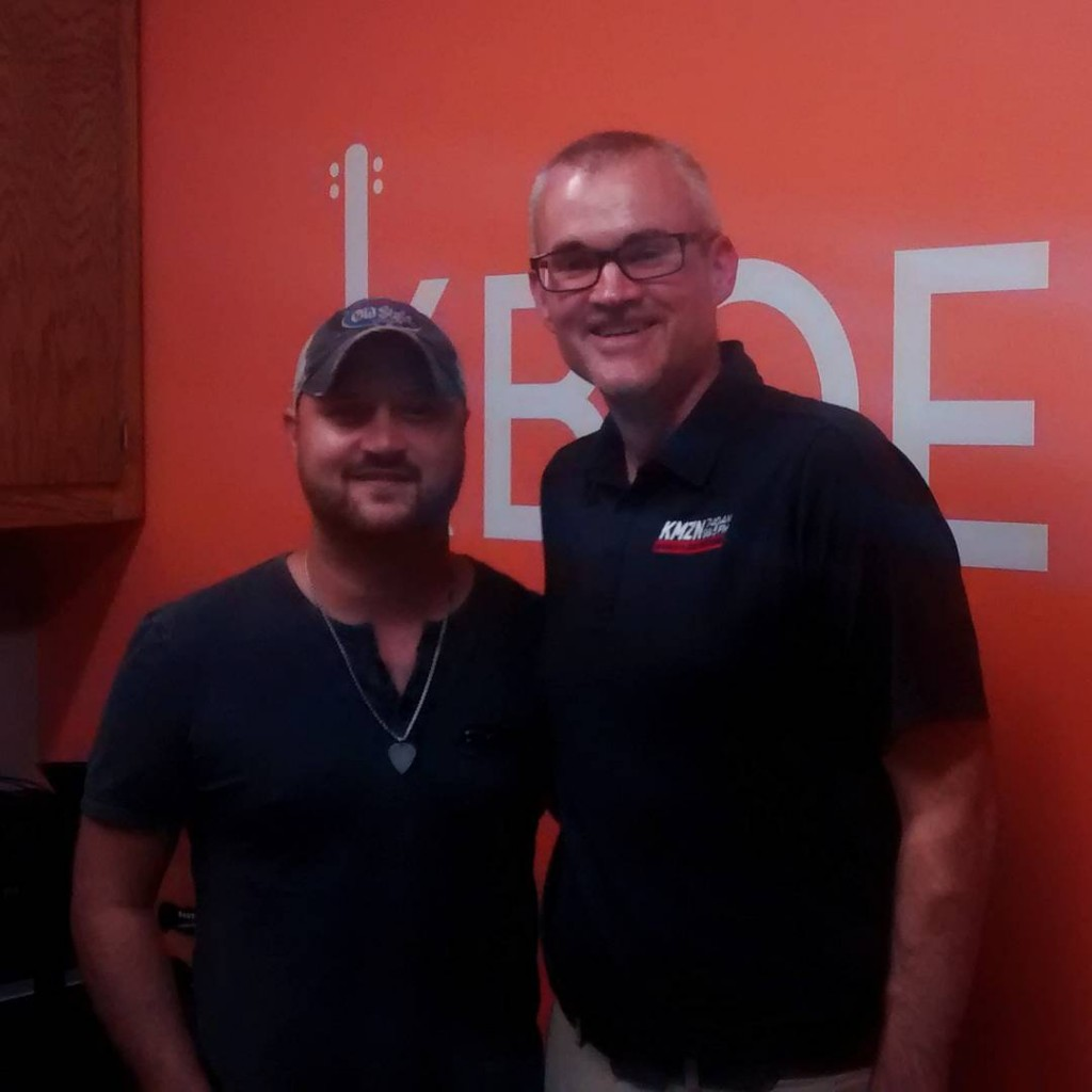 Thanks to aaronjgoodvin for stopping by the KBOE Studios!