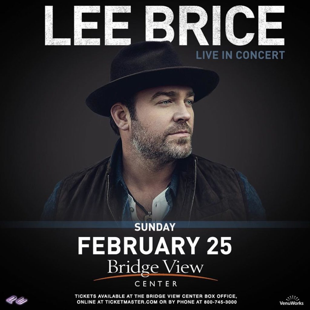 leebrice hits the stage THIS SUNDAY at the BridgeViewCenter inhellip