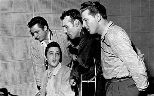 "This day in 1956: The ""Million Dollar Quartet"" records at Sun Studios in  Memphis 